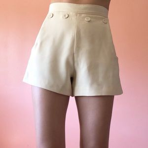 Finders Keepers High Waist Button Shorts